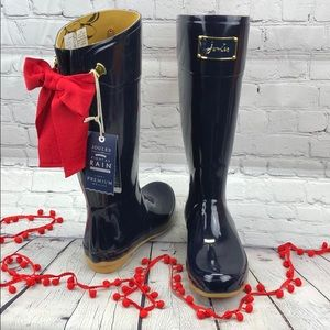 NWT Joules navy Right as Rain Premium Wellies